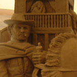 05-Jun-2005 - 10-Jul-2005 Italy, Venice (Jesolo). The international exhibition of sand sculpture. 'Hollywood' theme. 'Western' - Kuraev V.A. (height 3,5 m.)